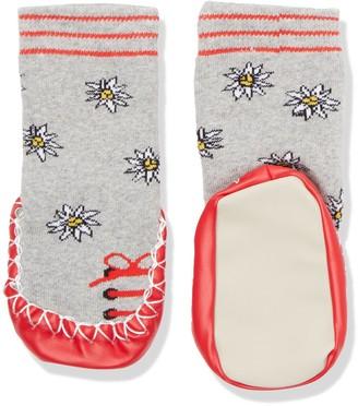 Playshoes Girl's Huttenschuhe Edelwei Knee-High Socks Grey (Grau/melange) 27-30