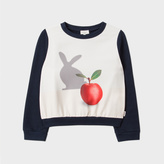 Paul Smith Girls' 7+ Years Navy 'Rabbit-Shadow' Print Sweatshirt
