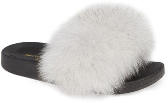 Patricia Green Foxy Genuine Fox Fur Slipper