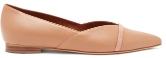 Malone Souliers Colette Point-toe Nappa-leather Flats - Nude