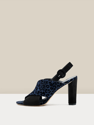 Diane von Furstenberg Bailie 90 Suede & Leather Slingback Sandals