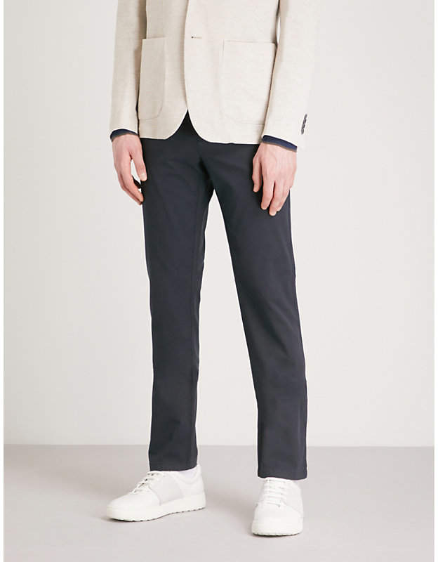 Canali Textured stretch-cotton trousers