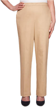 Alfred Dunner Petite Sateen Pull-On Street Smart Pants