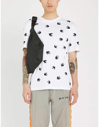 McQ Swallow-print cotton-blend T-shirt