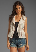 Anna Sui Mixed Lace Vest