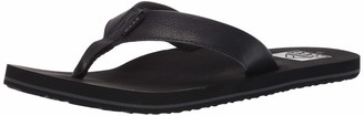 Reef Men's Sandal Twinpin | Comfortable Men's Flip Flop With Vegan Leather Upper