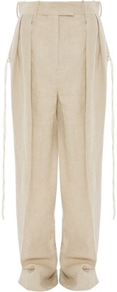J.W.Anderson Double Pleats Flared Trousers