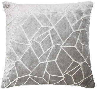 The Piper Collection Elizabeth 22x22 Pillow - Silver/White