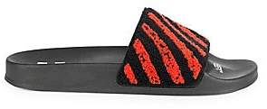 Off-White Men's Flyknit Stripes Slides Sandals
