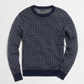 J.Crew Factory Nordic grid crewneck sweater