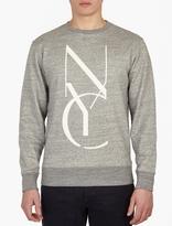 Saturdays Surf NYC Grey Cotton Logo Sweatshirt