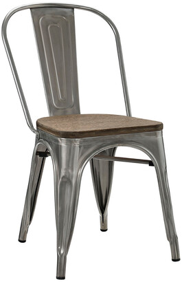 Modway Promenade Bamboo Steel Dining Side Chair