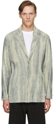 Homme Plissé Issey Miyake Off-White MC June Network Check Blazer