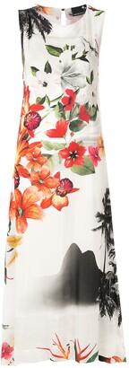 OSKLEN Ipanema garden cava dress