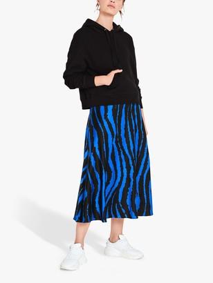 Hush Savi Slinky Animal Print Skirt, Blue