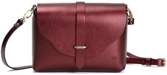 Atelier Hiva Midi Harmonia Leather Bag Metallic Burgundy