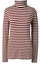 Classic Women's Tall Shaped Layering Turtleneck-Bright Ginger Heather Stripe