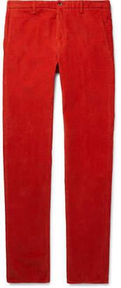 Noah Garment-Dyed Cotton-Blend Corduroy Trousers