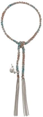 Carolina Bucci 18kt white gold Lucky Bracelet with Celebration Charm