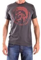 Diesel Men's Black Cotton T-shirt.