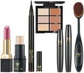 MagiDeal Set of 6pcs Professional FACE EYE LIP Makeup Set Toothbrush Shaped Brush + Mascara + Concealer Palette + Eyeliner Pen + Shimmer Stick + Matte Lipstick