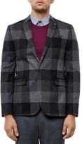 Ted Baker Clark Check Regular Fit Sport Coat