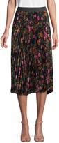 Ava & Aiden Mixed-Print Pleated Skirt