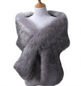 WYR Fake Faux Fur Scarf Wrap Women's Neck Collar Wrap Winter Warm Shawl