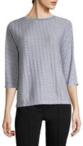Armani Collezioni Embroidered Crewneck Sweater