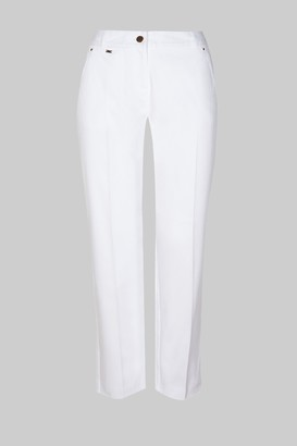 Wallis **TALL White Cotton Cropped Trouser