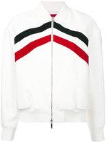 Moncler Gamme Rouge Bayouda bomber jacket - women - Silk/Cotton/Nylon - 00