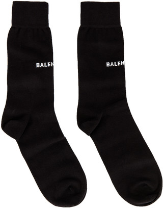 Balenciaga Classic Socks in Black & White | FWRD