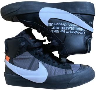 Nike x Off-White Blazer Mid Black Leather Trainers