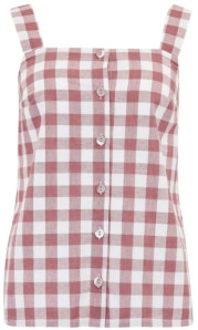 Sugarhill Boutique Leandra Rust Gingham Cami Top - 8