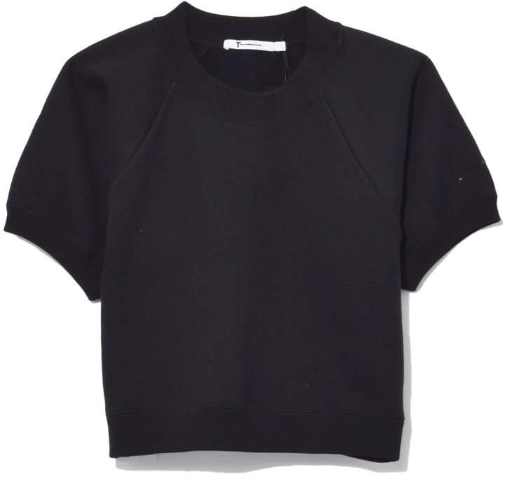Alexander Wang Fleece Raglan Sweatshirt in Black