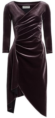 Chiara Boni Minna Velvet Faux Wrap Dress