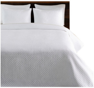 Surya Melbourne Transitional Jacquard Quilt Set, White, Full/Queen