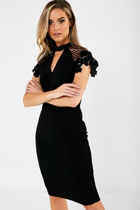 Iclothing iClothing Gaia Occasion Dress With Lace Sleeve in Black