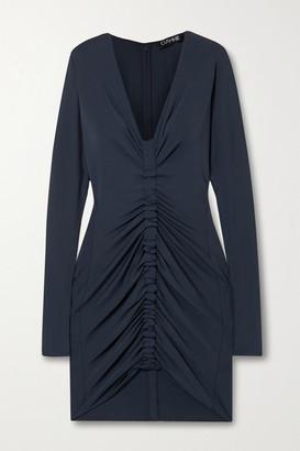 Cushnie Ruched Stretch-jersey Mini Dress - Midnight blue
