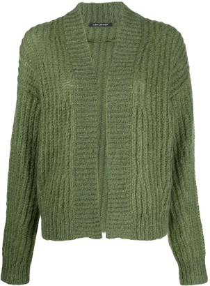 Luisa Cerano Long Sleeve Cable Knit Cardigan