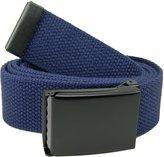 Build A Belt Wide 1.5 Black Flip Top Men's Belt Buckle with Canvas Web Belt X-Large Navy