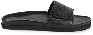 Buscemi Textured Leather Slides