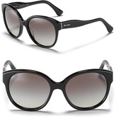 Round Wave Temple Sunglasses