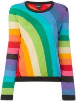 Just Cavalli rainbow intarsia jumper - women - Cotton - S