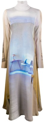 Undercover graphic print maxi dress