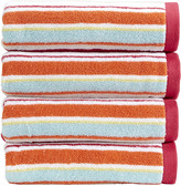 Christy Portobello Stripe Towel - Deep Pink - Bath Towel