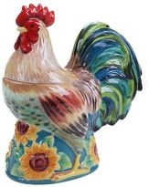 Certified International Sunflower Rooster 3D Cookie Jar