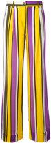 P.A.R.O.S.H. Sweden flared trousers - women - Silk/Spandex/Elastane - XS