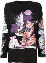 MM6 MAISON MARGIELA cat print sweatshirt