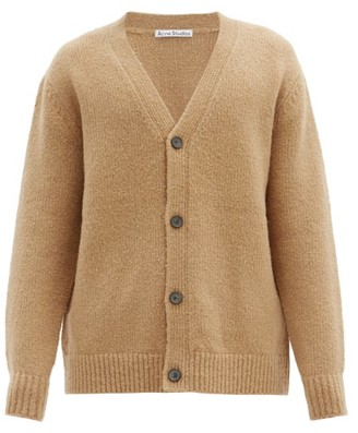 Acne Studios Kabelo Rib-knitted Wool-blend Cardigan - Light Brown